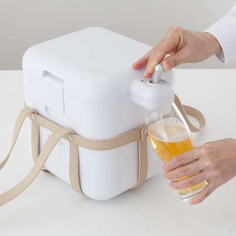Ultrasonic Beer-Serving Coolers