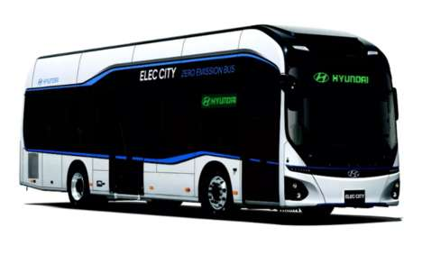 Quick-Charging Electric Buses - Hyundai's 'Elec City' Bus is Fully Charged in Just Over an Hour