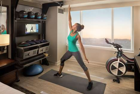 Workout-Ready Hotel Rooms - Hilton's 'Five Feet to Fitness' is Like a Hotel Gym Inside a Suite
