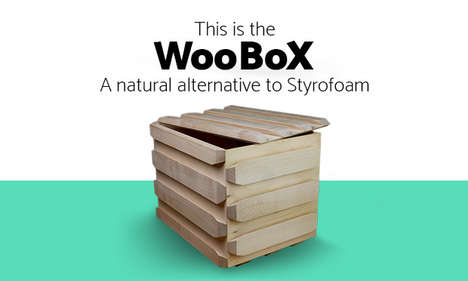 Insulating Wooden Boxes - The 'WooBox' is an Eco-Friendly Alternative to Styrofoam Packaging