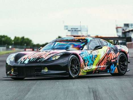 Comic Book Muscle Cars - Larbre Competition's Corvette Art Car Was Designed for Le Mans 2017