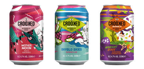 Alcoholic Craft Sodas - The Crooked Beverage Co's Drinks Blend a Malt Base with Real Fruit Juice