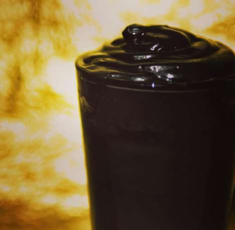 Gothic Iced Lattes - Round K is Offering an Unusual Ink-Black Iced Latte