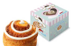 Co-Branded Cartoon Cinnamon Rolls - For a Limited Time, KFC is Selling Cinnamorol's Cinnamon Roll