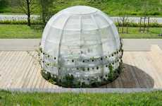 Public Medicinal Greenhouses - 'Breathing Bubble' is a Transparent Greenhouse for Medicinal Plants