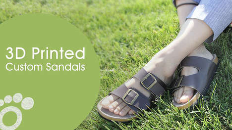 Custom-Fit Printed Sandals - OLT Footcare is Launching 3D-Printed Shoes for Optimal Fit and Comfort