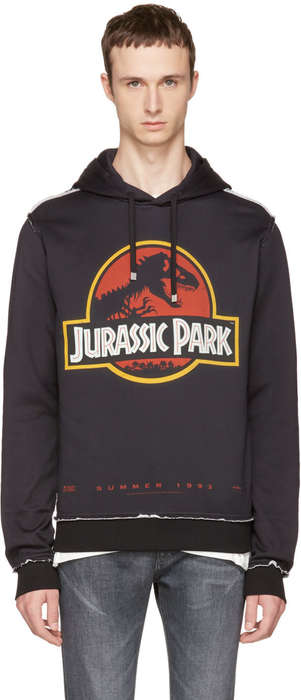 Luxury T-Shirt Replicas - Dolce & Gabbana Revive 1990's Jurassic Park Movie Merchandise