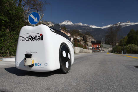 Two-Wheeled Delivery Robots - Teletretail is Developing an Automated Robot for the Roads