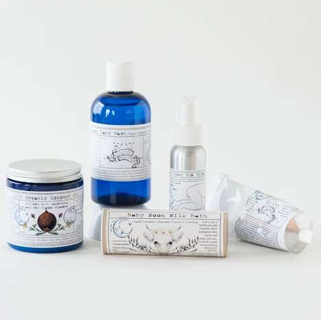 Celestial Baby Care Kits - Between You and the Moon's Baby Moon Range is Organically Sourced