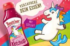 Glittering Ketchup Condiments - German Mustard Producer Bautz'ner is Releasing a Unicorn Ketchup