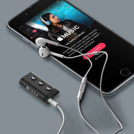Earphone-Upgrading Dongles - The ATECH Micro Bluetooth Receiver Inexpensively Upgrades Headphones