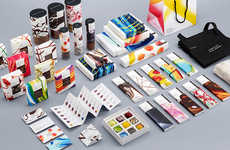 Abstract Art Chocolate Branding - The Temper Brand Offers Premium Chocolates and Pastries