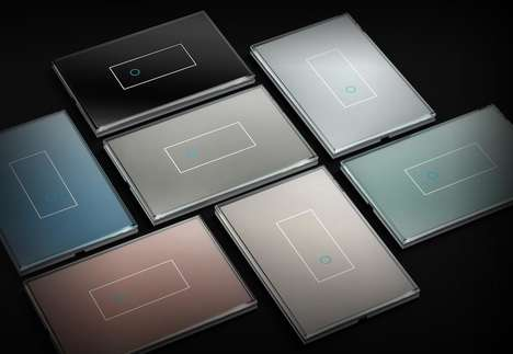 Designer Italian Smart Switches - The 'iotty' Light Switch Merges Technology with Fashion
