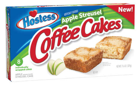 Convenient Cake Breakfast Snacks - The Hostess Apple Streusel Coffee Cakes are a Quick Morning Meal