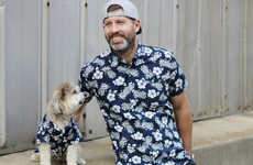 Pet-Matching Hawaiian Shirts - These Hawaiian Tops Can Be Worn with Matching Shirts for Dogs