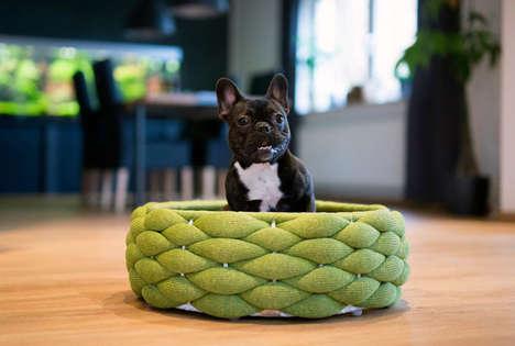 Luxury Woven Pet Beds