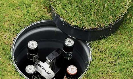 Underground Beer Coolers - The Biersafe Underground Beer Cooler is Buried Three Feet Below Ground