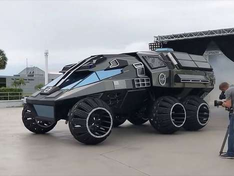 Rugged Mars Off-Roaders - The Mars Rover Concept Envisions a Manned Mission to the Red Planet