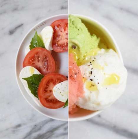 Salad-Inspired Gelato Desserts - Eataly Chicago's Gelato Flavor Boasts the Savory Taste of Caprese