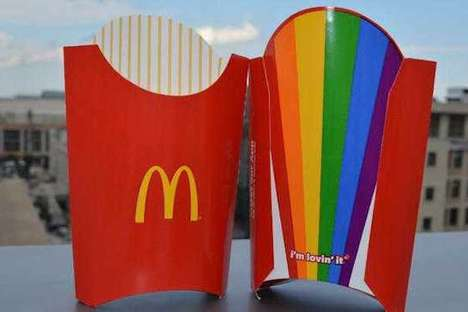 Pride-Celebrating Fast Food Packaging - McDonald's Celebrates Pride Month With Rainbow Fry Boxes