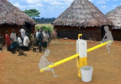 Rural Playground Water Pumps