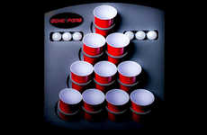 Portable Beer Pong Tables - 'Oche Pong' Allows You to Play Beer Pong Virtually Anywhere