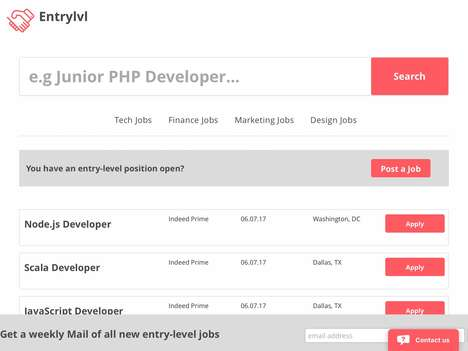 Entry-Level Employment Aggregators - 'Entrylvl' Helps Users Find Entry-Level Jobs in One Spot