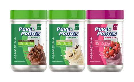 Vegan Protein Meal Supplements - The Pure Protein Super Food Powders are 100% Plant-Based