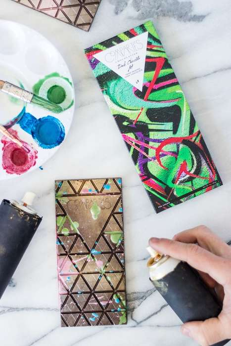 Graffiti Chocolate Bars - Compartes' Art-Inspired Chocolate Bar Has Hand-Sprayed Edible Splashes