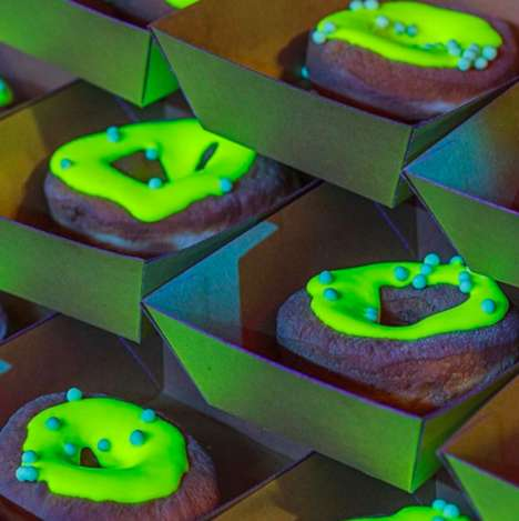 Glow-in-the-Dark Donuts - Black Star Pastry Created 'Glownuts' with Bright Green Icing