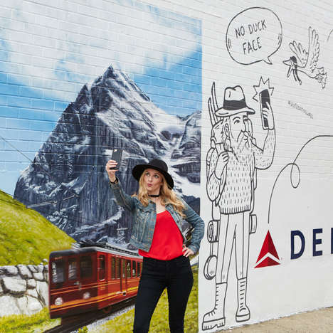 Travel-Themed Selfie Walls - The #DeltaDatingWall Presents a Photo-Op for Online Daters