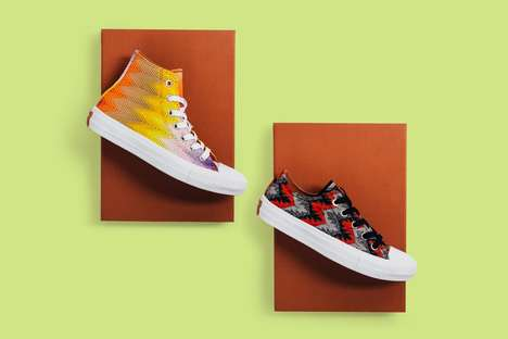 Co-Branded Knit Sneakers - Converse X Missoni Redesigned the Chuck Taylor All Star II