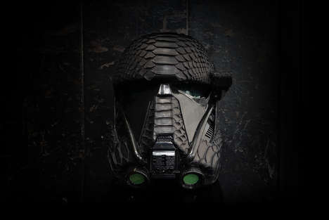 Luxury Replica Sci-Fi Masks - This ELEMNT Star Wars Death Trooper Helmet is Wrapped in Python Skin