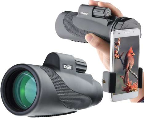 Telescoping Smartphone Lenses - The Gosky Titan Monocular Works Independently and with Smartphones