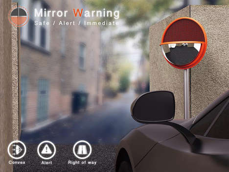 Screen-Implemented Street Mirrors