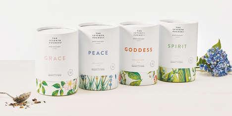 Elegant Cylindrical Tea Branding