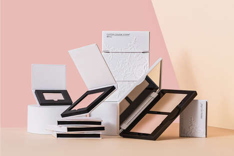 Refillable Luxury Cosmetics Packaging - The Snowcrystal Makeup Brand Offers Eco-Friendly Packaging