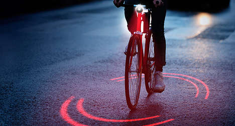 Space-Highlighting Bike Lights - Michelin's 'Bikesphere' Protects Cyclists with a Red Ring of Lasers