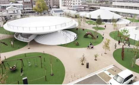 Multi-Functional Public Plazas - 'Cofufun' Near Kyoto is a Piece of Community-Serving Architecture