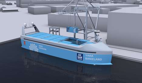 Zero Emissions Cargo Ships - This Fully Electric Autonomous Ship Will Hit the Seas in 2018