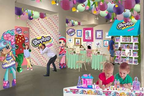 Pop-Up Toy Cafes - The Shopkins Macaron Café Brings the Collectible Playsets to Life