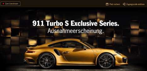 Livestreamed Sportscar Launches - This Porsche Livestream Lets Fans View the New Model Virtually