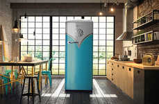 Minibus-Inspired Refrigerators - The Retro VW Fridge Boasts a Nostalgic Design and Modern Features