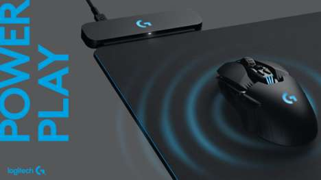 Mouse-Charging Desktop Pads - The Logitech Powerplay Mouse Pad Charges Mice During Use