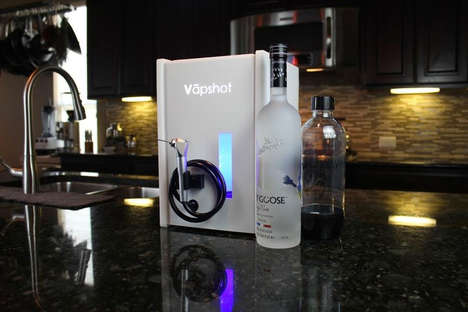 Home Alcohol Vaporizers - The 'Vapshot Mini' Turns Alcohol into Vapor for a Quick Buzz