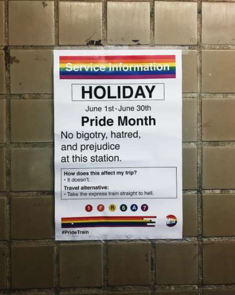 Subway-Style Pride Posters - New York's MTA Posters Served as Inspiration for a Pride Month Campaign