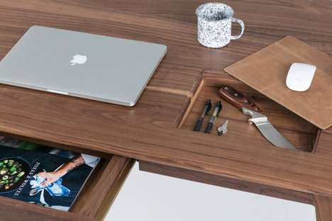 Locking Hidden Compartment Desks