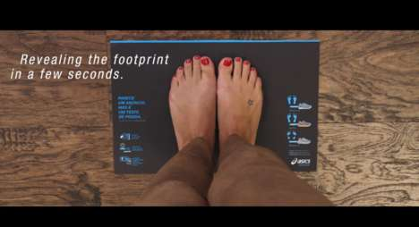 Foot Type Testing Ads - This Asics Ad Uses Thermochromic Ink to Test Your Foot Type at Home
