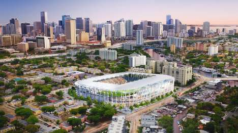 Celebrity-Sponsored Soccer Stadia - The Miami Beckham United Stadium is Funded by the British Star