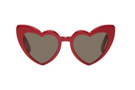 Retro Heart-Shaped Sunglasses - Saint Laurent Recently Launched Two Colorways of Its Lou Lou Frames